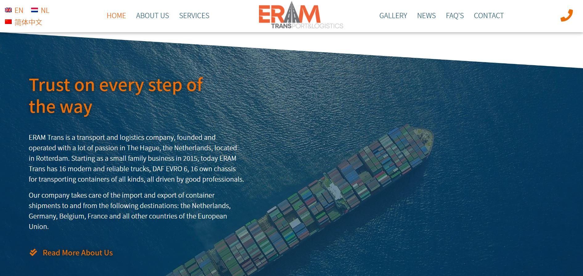 Eram Trans Website Design 2